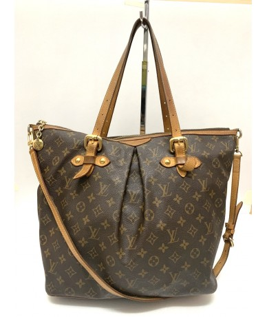 LOUIS VUITTON Palermo shopping bag in canvas and monogram leather