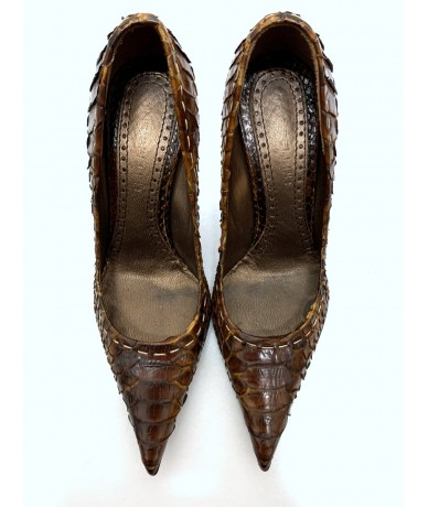 The Seller brown python shoes size 37 heel 9