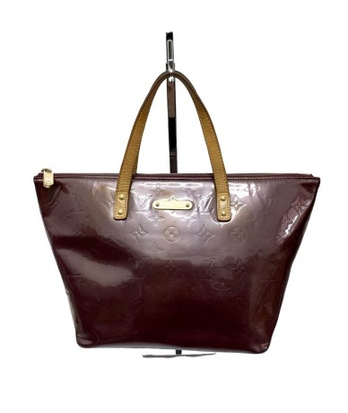Louis Vuitton Bellevue in pelle verniciata colore bordeaux