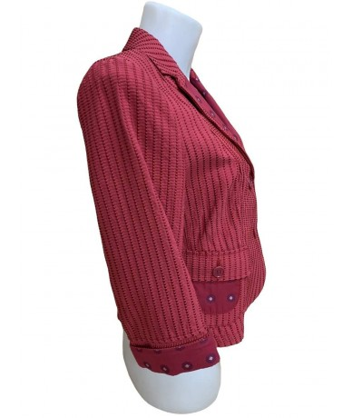 Etro Woman jacket size 44 cherry red