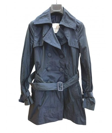 Moncler women's trench coat size 1 (it 42) blue color