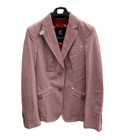 Calvaresi pink cotton jacket size 44