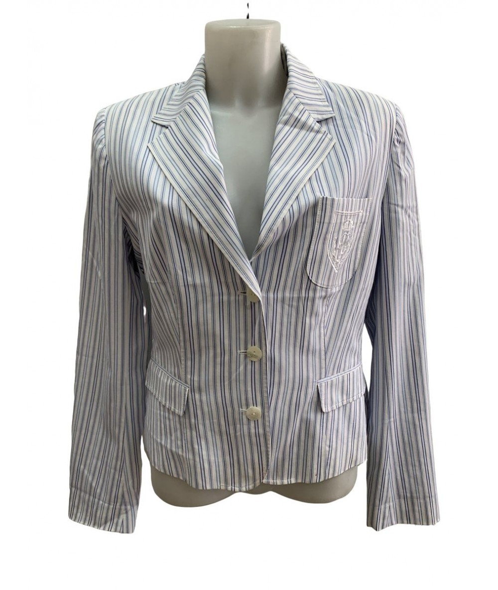 Dolce & gabbana striped cotton jacket sz. 46