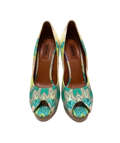 Missoni heeled shoes in canvas and leather size 37