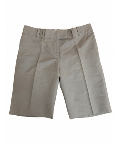 Chloè cotton and linen shorts sz. 40 safari color
