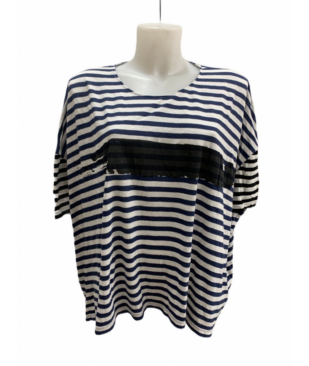 Golden Goose Deluxe striped half sleeve shirt sz. L