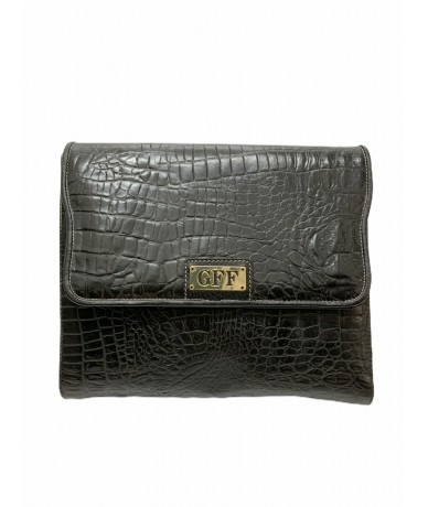 Gianfranco Ferrè vintage clutch bag in crocodile print leather