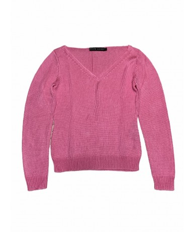 Ralph Lauren V-neck sweater in silk size M pink