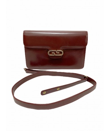 Gucci shoulder bag clutch bag in burgundy leather