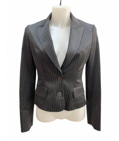 Ferrè suit jacket and trousers in gray with stripes tg. 40
