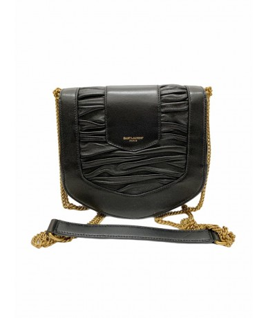 Saint Laurent Chrissie shoulder bag in black leather