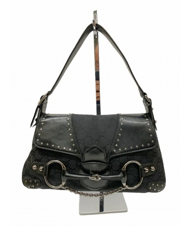 Gucci horsebit tom ford shoulder bag in fabric and leather
