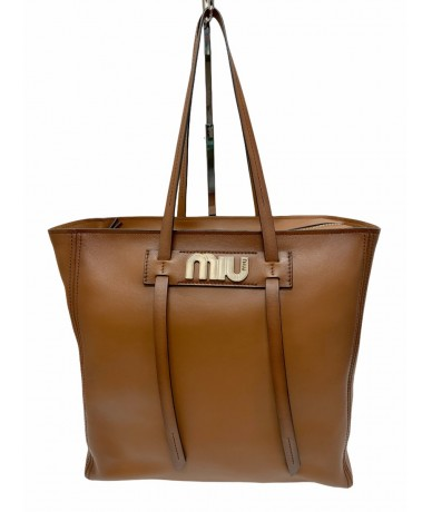 Miu Miu Shopping 5BG132 bag Grace Lux shaded cognac