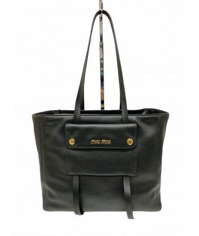 Miu Miu Grace Lux 5BG144 Black shopping bag