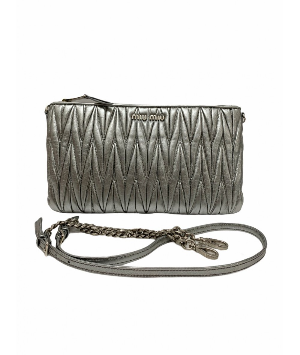Miu Miu Shoulder bag 5BF354 matelassé chrome