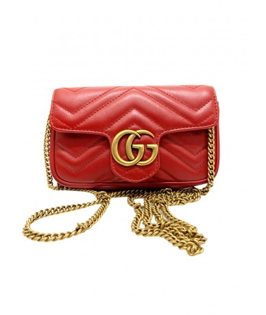 Gucci Mini GG Marmont bag in matelassé leather