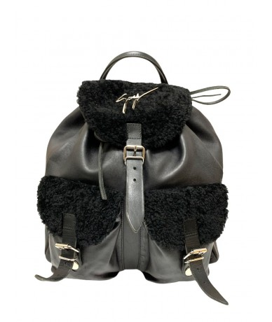 Giuseppe Zanotti backpack in black leather