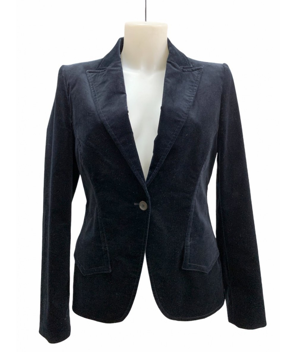 Gucci jacket size 44 in blue velvet one button