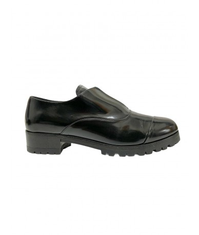 Miu Miu derby shoes size 36 in glossy black leather