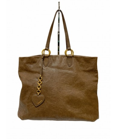 Miu Miu shopping bag in cognak color leather
