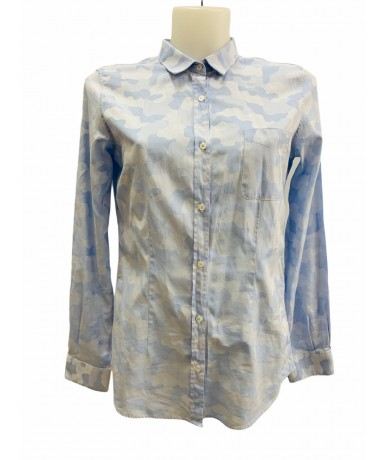 Golden Goose shirt tg. L blue caumuflage