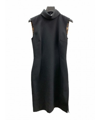 Dolce & Gabbana Sheath dress in wool black color size 42