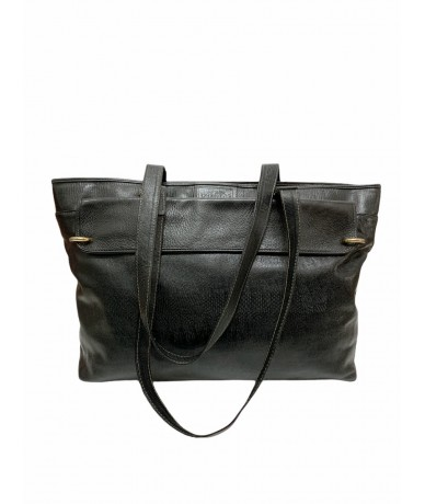 Gianfranco Ferrè vintage leather shoulder bag col. Black