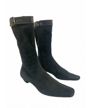 Gucci ankle boots in suede size 38.5 col. black