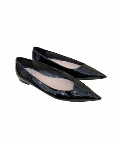 Christian Dior ballet shoes size 39 col. glossy black