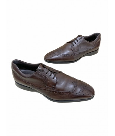 Tod's men's leather shoes size 7.5 brown color