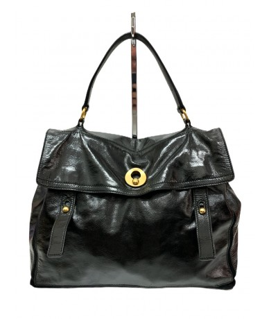 Yves Saint Laurent Muse Two satchel in black leather