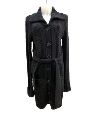 Burberry Long cardigan in 100% cashmere sz. 42 black color