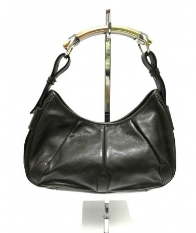 YVES SAINT LAURENT Shoulder bag real dark brown leather