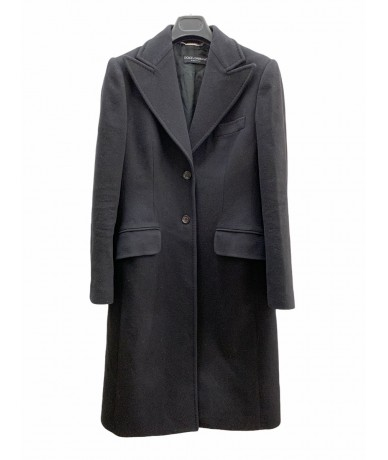 Dolce & Gabbana wool and cashmere coat size 44 col. black