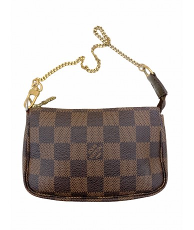 Louis Vuitton mini clutch bag accessories damier ebene