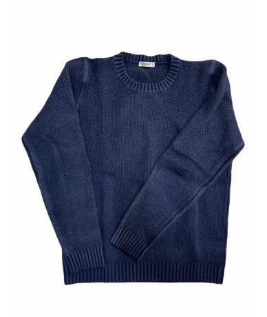 Kangra crewneck sweater in wool and silk tg. M blue color