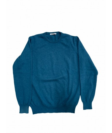 Kangra sweater in 100% cashmere dark turquoise color tg. M.