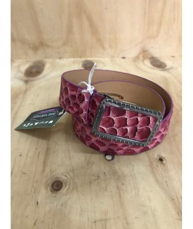 ANNA BIAGINI Women's belt in fuchsia leather size 100/85