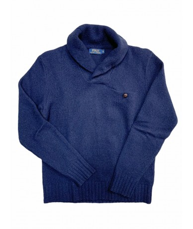 Polo Ralph Lauren men's wool sweater size M blue color
