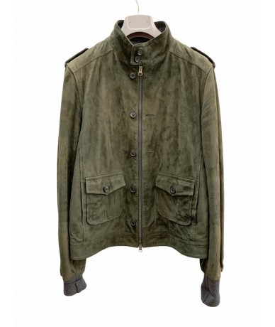 Mauro Grifoni man jacket in reindeer size 50 green color