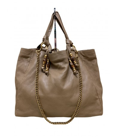 Gucci shopping bag 232942 Jungle bamboo pelle beige649,00 €