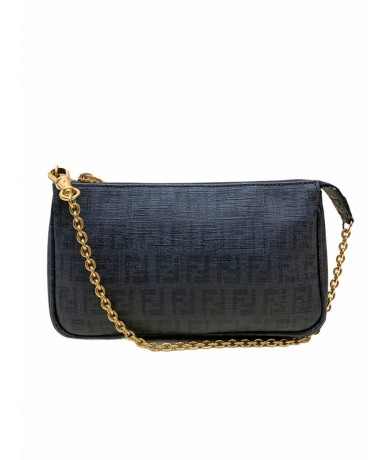 Fendi clutch bag 8M0271 in black canvas