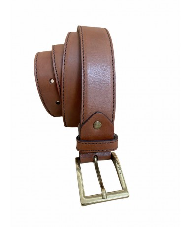 The Bridge men's belt in brown leather