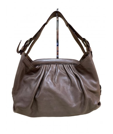 Fendi Doctor Hobo 8BR579 mud-colored leather bag