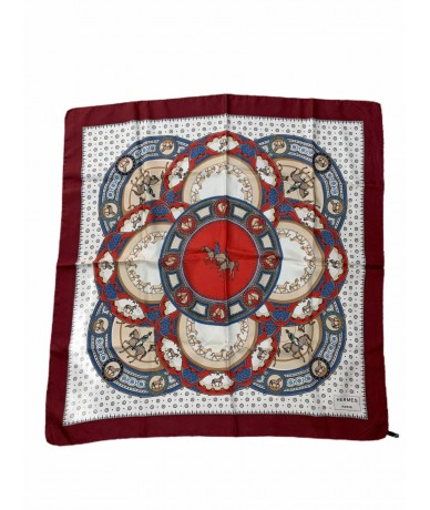 Hermes silk scarf with horse pattern