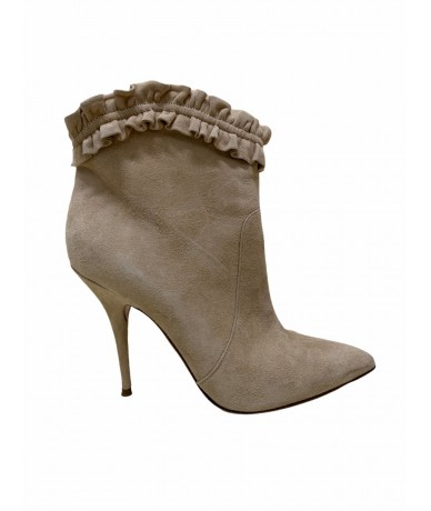 Casadei beige suede ankle boots mis. 40