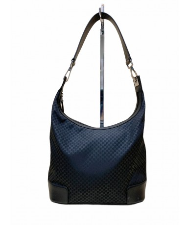 Gucci Hobo shoulder bag in black fabric and leather