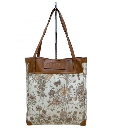 Gucci Flora vintage bag in canvas and leather