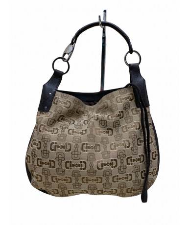 Gucci hobo bag in brown fabric and leather