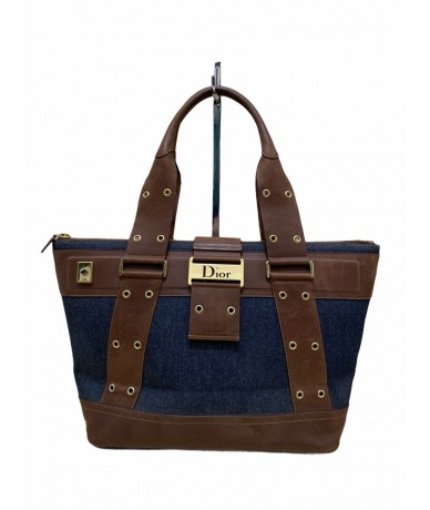 Christian Dior Street Chic Bag in denim and leather